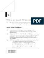 Funding and support for research students