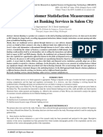 A Study on Customer Statisfaction Measurement towards Internet Banking Services in Salem City