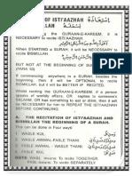 Isteazah and Basmallah