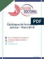 Formations CD Um Jan Mars 2019