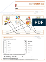 Worksheets Birthdays Answers