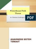 Pemeriksaan Fisik Thorax dr. Christian L.ppt