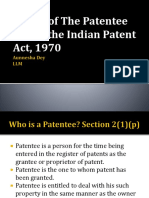 Rights of the Patentee