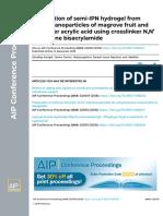Preparation of semi-IPN hydrogel from starch nanoparticles of mangrove fruit and monomer acrylic acid using  N,N Methylena bisacrylamida.pdf