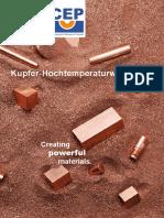 Kupfer Hochtemperaturwerkstoffe