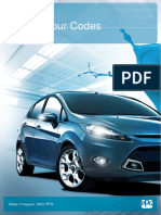 Ford Colour Specific codes