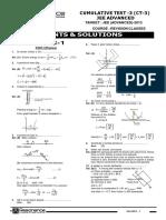 CT 3 JEE Adv 12-05-2013 Solution English