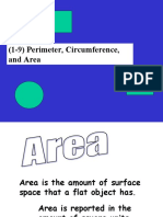 (1-9) Perimeter, Circumference, And Area