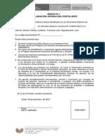 Formato de Declaración Juradas