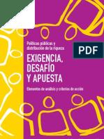 Políticas públicas y distribución de la riqueza. Exigencia, desafío y apuesta