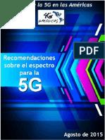 4G Americas 5G Spectrum Recommendations White Paper - Spanish