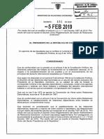 Decreto 134 Del 05 de Febrero de 2019