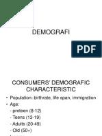 Consumer Demografic characteristic