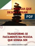 Seja a Energia q Deseja Atrair - Ana Moreira