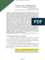 Políticas de Inclusão e a Educação Profissional e Tecnológica Em Foco o Olhar Dos Gestores Do Ifes