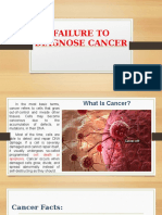 Failure to Diagnose Cancer
