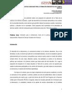 La Teoría de la Justicia como base para la formación democrática en el ámbito escolar. Edisson Díaz Sánchez. Secretaría de Educación de Bogotá.