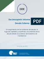 Informe de la deuda argentina Dic 2018