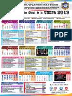 Calendario 2019 Unefa AprobadoCUO 007 13-11-2018 OFICIAL