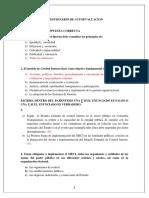 Cuestionario de Autoevaluacion.