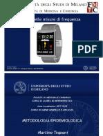 IMPIEGO MISURE DI FREQUENZA STUDI EPIDEMIOLOGICI