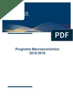 PROGRAMA MACROECONOMICO 2019