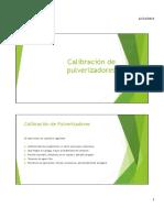 Calibración de Pulverizadores