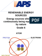 Grade 6 Renewable Energy Sources