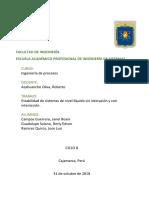 Estabilidad de sistemas de nivel líquido sin interación y con interacción