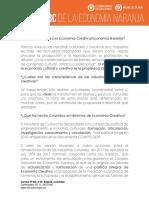 ABC DE LA ECONOMÍA NARANJA