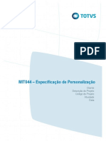 MIT044 - CODPROJETO- Especificação de Personalização