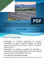 """Instrucțiuni de accesare a Programului """"Sisteme fotovoltaice"""""""