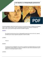 Lutero, Santo Tomás de Aquino e a Interpretação Pessoal Da Bíblia – Livre Exame