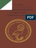 BUBENIK the Phonological Interpretation of Ancient Greek a Pandialectal Analysis