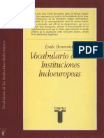Benveniste Emile - Vocabulario de Las Instituciones Indoeuropeas