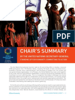 Chair's Summary From World Humanitarian Summit 2016