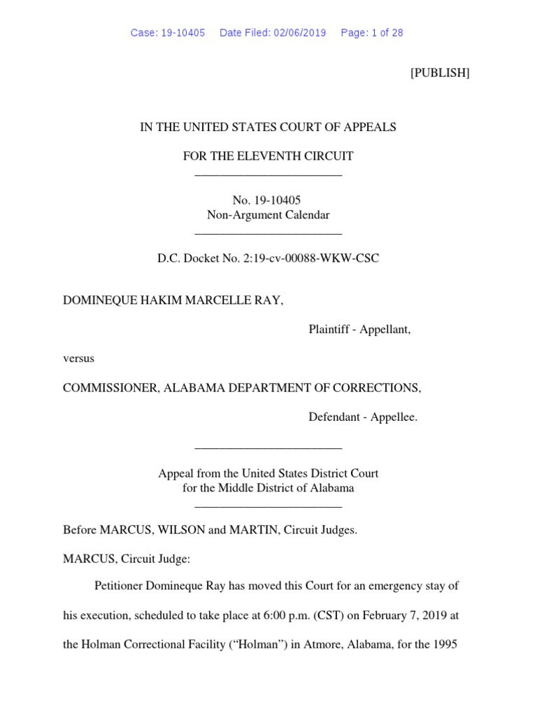 Ray Order Granting Stay (002) | Establishment Clause | First