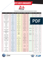 2019 24 Heures Motos Liste Engages