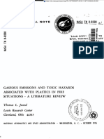 NASA Technical Note - Gaseous Emissions and Toxic Hazards Associated With Plastic in Fire Situations - A Literature Review - 1976