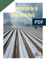 Concentración de La Tierra en El Perú