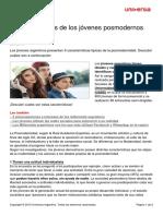 5 Caracteristicas Jovenes Posmodernos Argentinos