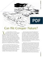 Can we conquer nature?
