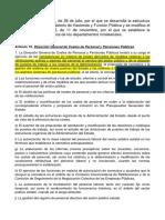 Estructura Organica Departamentos Ministeriales