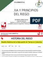 1. Historia y Principios Del Riego