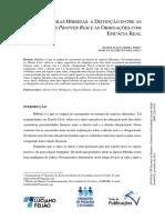 Figuras Hibridas a Distincao Entre as Obrigacoes Propter Rem e as Obrigacoes Com Eficacia Real