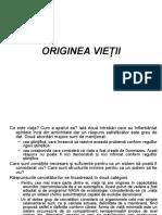 c3. Originea Vietii. Biogeneza. 1