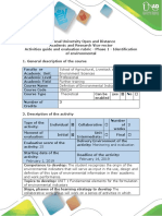 Guide of Activities and Rubrica of Evaluation - Phase 1 - Identification of Environmental