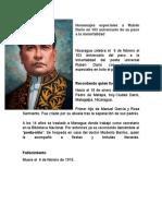 Homenajes Especiales a Rubén Darío en 103 Aniversario de Su Paso a La Inmortalidad