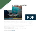 Crédito Con ICETEX a Través CECAR