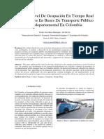Paper Análisis Nivel De Ocupación En Tiempo Real De Pasajeros En Buses De Transporte Público Interdepartamental En Colombia